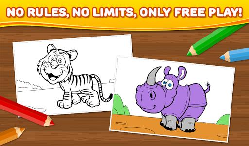 玩免費教育APP|下載動物:子供のぬりえ app不用錢|硬是要APP