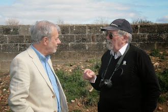 Photo: Douglas Newton chats with 50 Year member, Frank Gear