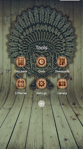 無料娱乐Appの焼失ウッドSoloLauncherテーマ|記事Game