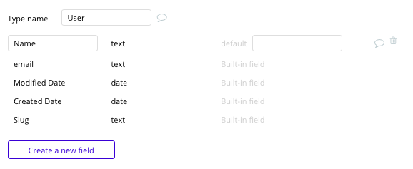 Bubble Zendesk no-code clone with user data type and fields