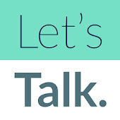 Let's Talk. prompts for meaningful small talk.