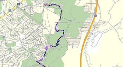 Photo: North part - Blue=Walk 10.9km - GPS map view on map base using open source Open Steet Maps (OSM) NSW Cycle garmin map - gps, kml files are located in Google Drive: https://drive.google.com/folderview?id=0B3KACTzeu2lANTA3NWM4NmItMjYyOC00MDAxLTk3ZDEtNzEzMjQ5MDViZGIw&usp=sharing