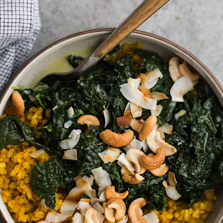 Turmeric Rice with Coconut Kale.