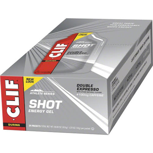 Clif Bar Clif Shot Energy Gel - Double Espresso Turbo w/ Caffeine - 24-Pack