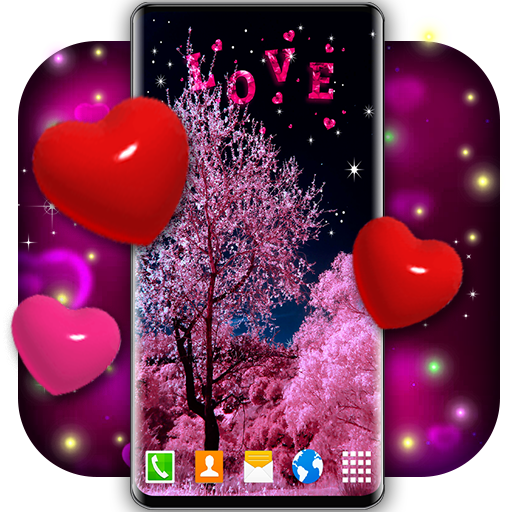 Love Live Wallpaper 3d Hearts 4k Wallpaper Free Apps On Google Play
