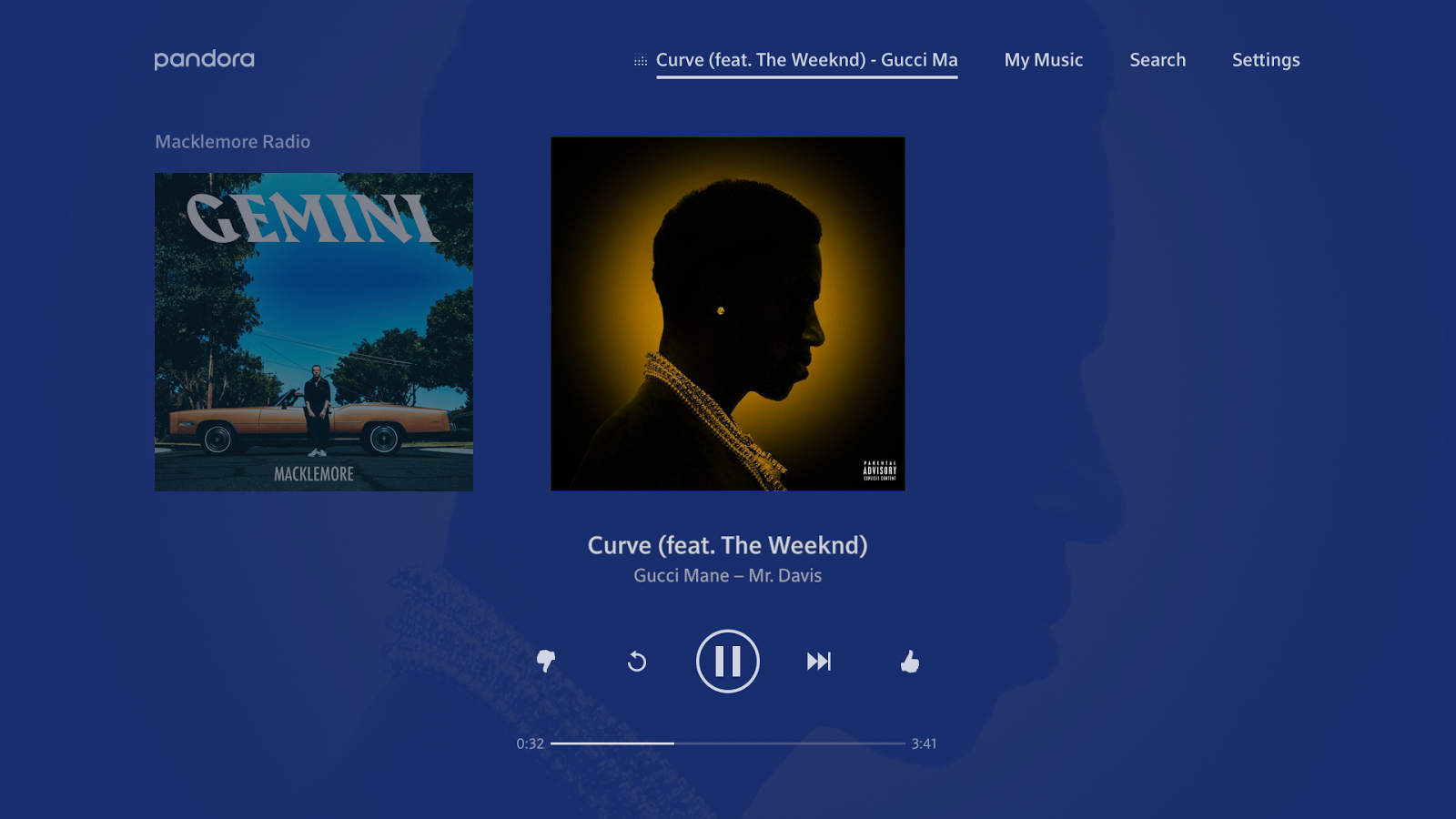Pandora Music for TV- screenshot