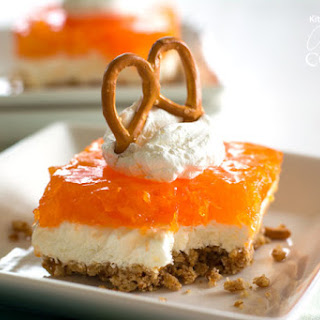 Tropical Orange Pretzel Salad.