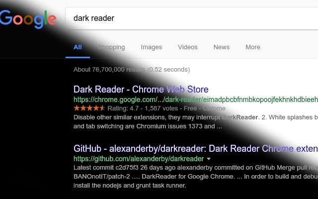 Dark Reader Dark Screenshot