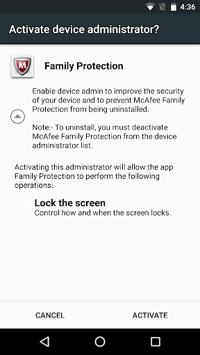 McAfee Family Protection screenshot 1