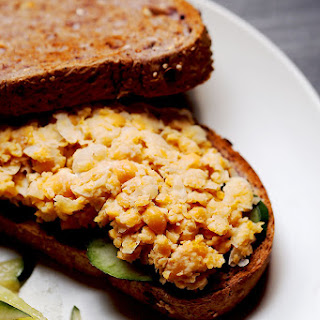Easy Vegan Chickpea Tuna Sandwich.