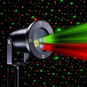 Proiector metalic laser pentru exterior cu jocuri de lumini pentru sarbatori