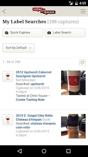CellarTracker screenshot