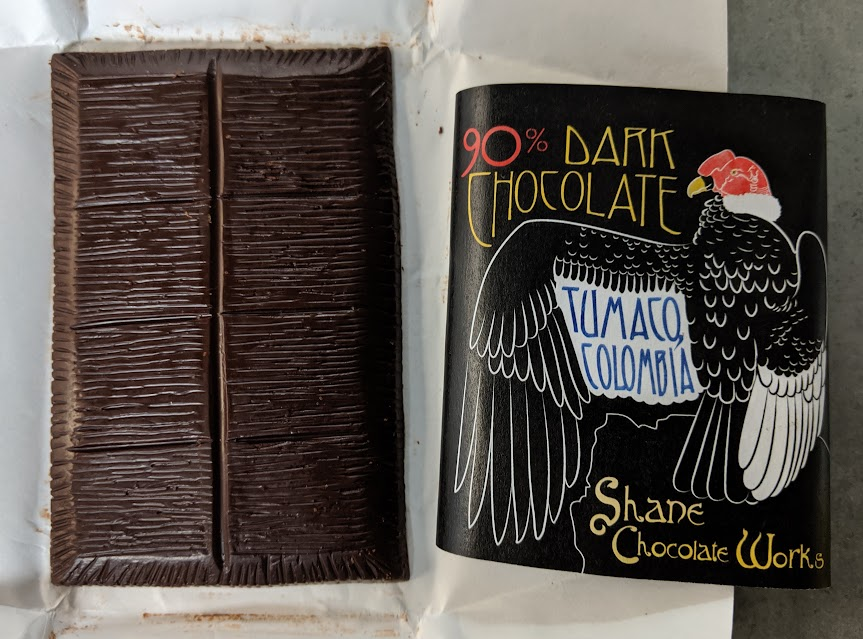 90% tumaco shane chocolate works bar