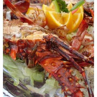 Garlic Buttered Shrimp.