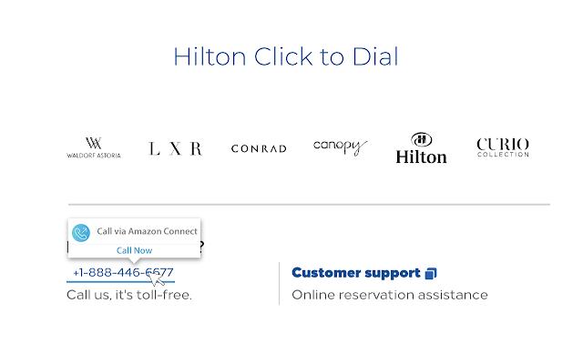 Hilton ResSmart Click to Dial