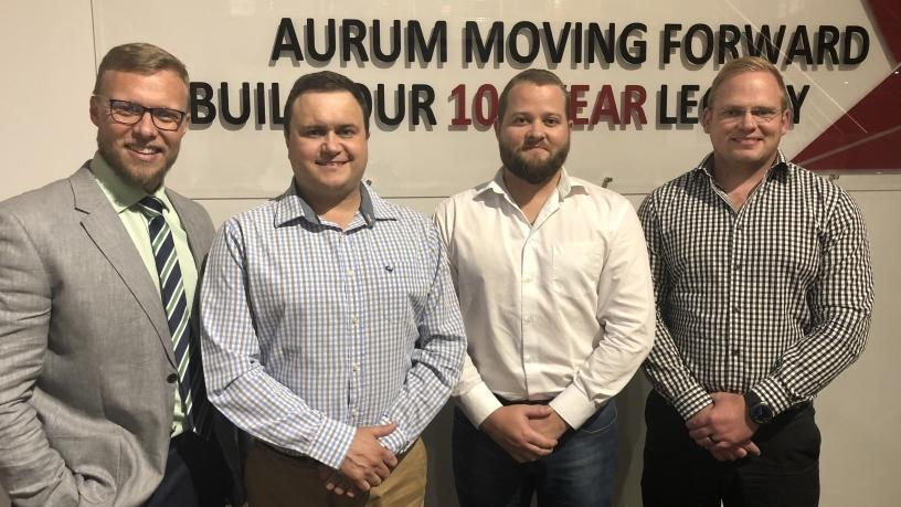 From left: Frederik van Staden, senior consultant for WAN and ISP services at eNetworks; Dirk van Schalkwyk, ICT director at The Aurum Institute; The Aurum Institute ICT manager, Cristian Pieterse; and Andre Potgieter, service delivery manager at The Aurum Institute.