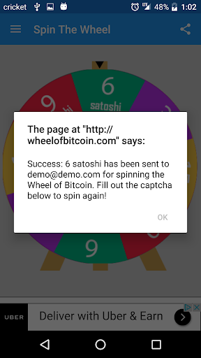 Wheel of Bitcoin  screenshots 2