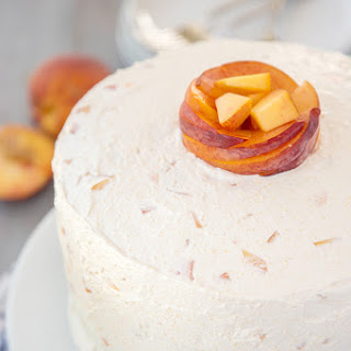 Vanilla Peach Layer Cake.