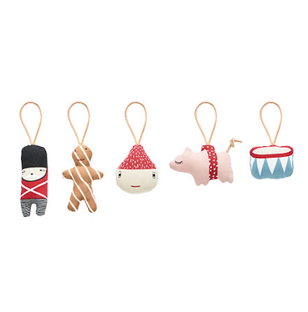 Christmas mini figurer 5 st