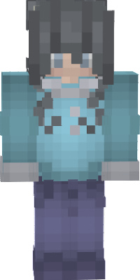 Cute Girl Winter Skin with space buns