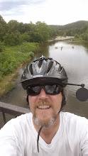 Photo: On the foot bridge over the Jacks Fork