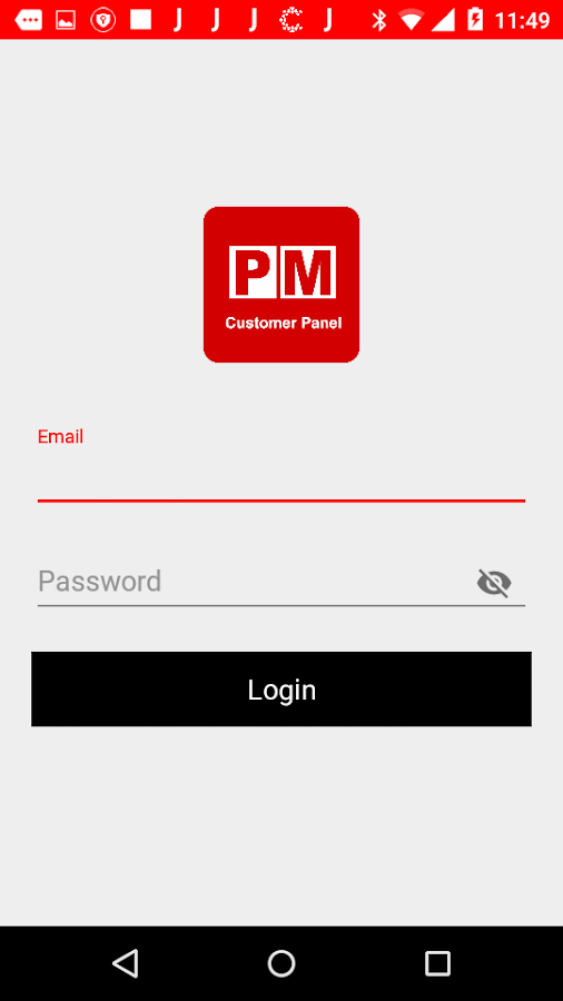 PM Customer Panel- screenshot