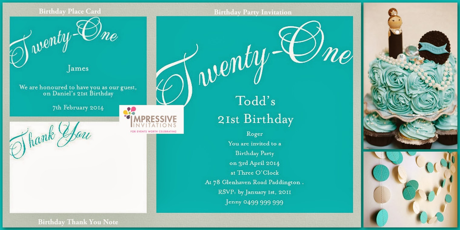 Party Invitations Thank You Card RSVP Card Matching Party Stationery