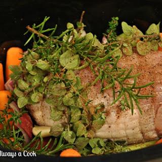 Boneless Breast of Turkey Roast Prepared in the Slow Cooker