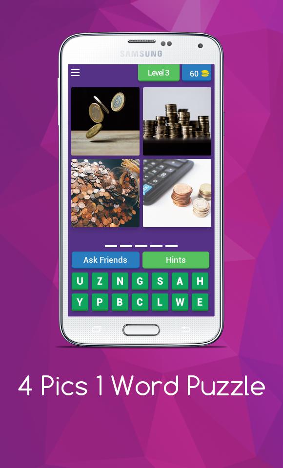 Скриншот What Word is it - 4 Pics 1 Word