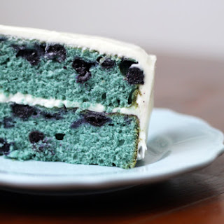 Blueberry Velvet Cake with Cream Cheese Frosting.