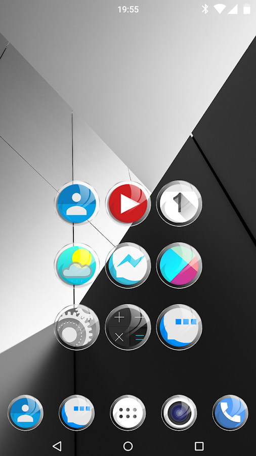 Crystal Glass - icon pack HD- screenshot