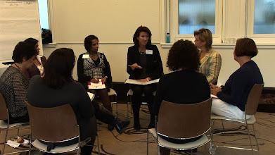 Photo: Intervisieonderwerp 'Het Nieuwe Werken' met secretaressecoach Angela van Beek.