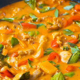 The Best Thai Panang Chicken Curry.