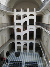 Photo: This stairway in the Prague Music History Museum reminded us of an M C Escher print.