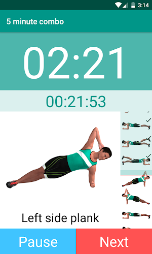 Plank Timer Android App Screens