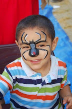 Photo: Spider face paint by Bella the Clown. Call to book Bella today at 888-750-7024