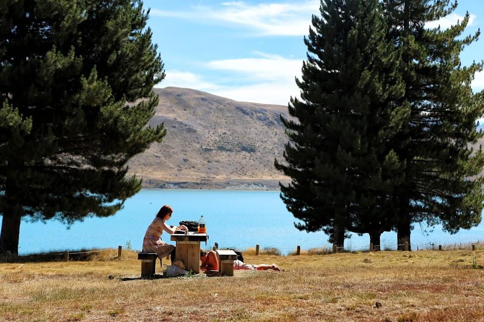 Jezioro Tekapo, Nowa Zelandia, tanie podróżowanie