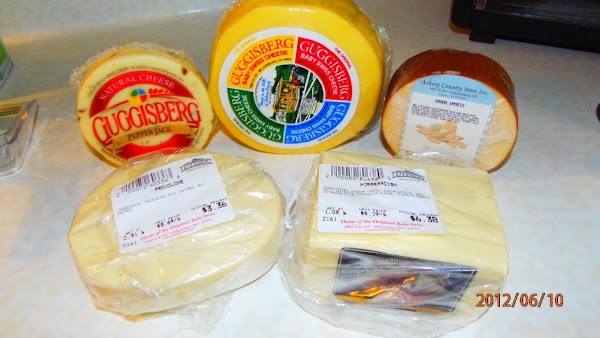 Ohio cheeses that I bought from Amish country --Ohio's number one produce made is...