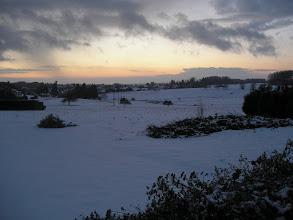 Photo: « ... aux couchers de soleil sous la neige, à Plombières. »