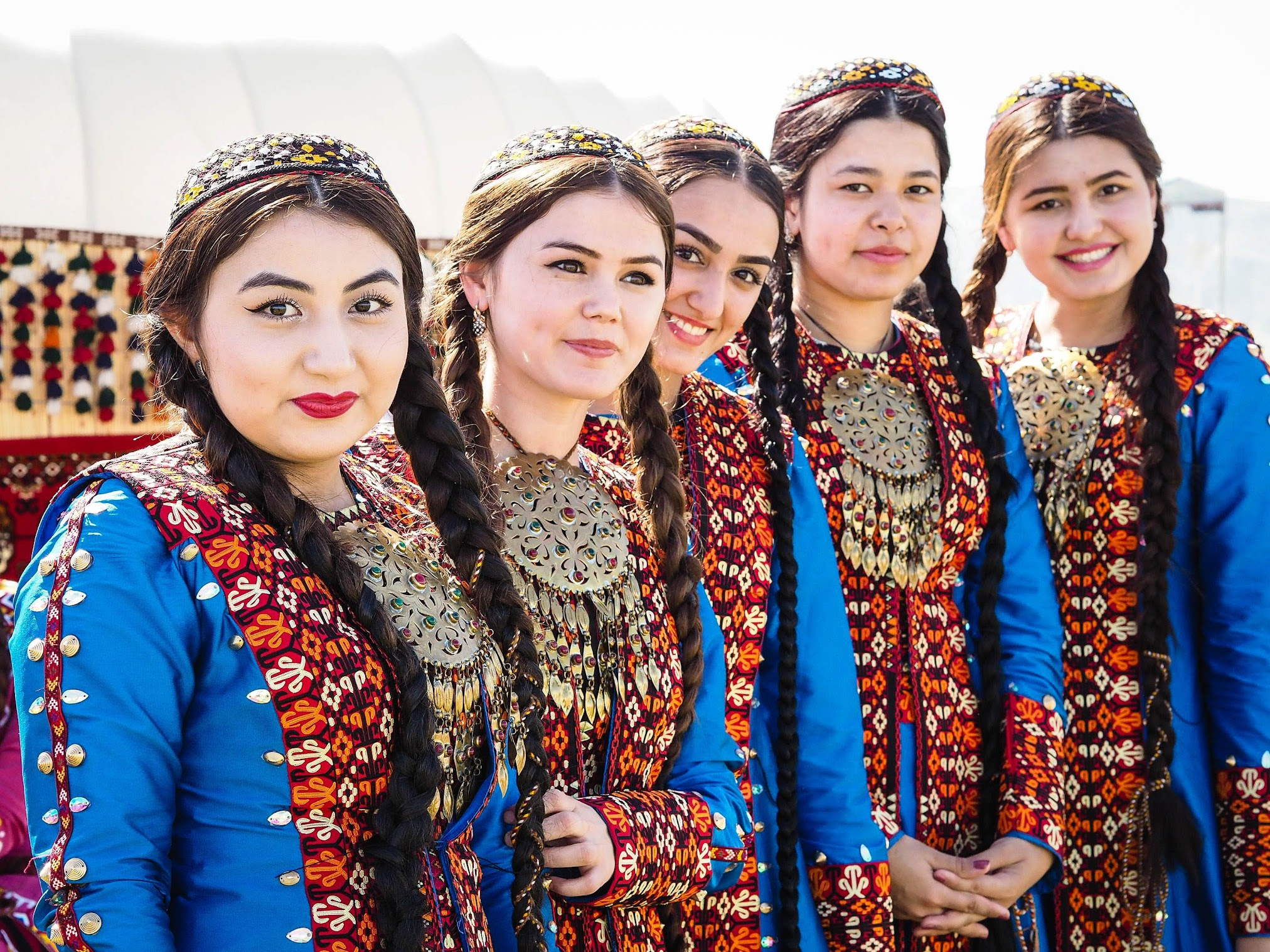 Colorful and beautiful ladies of Turkmenistan