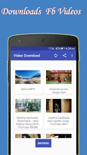 HD Videos Downloader for Facebook 2018 free - náhled