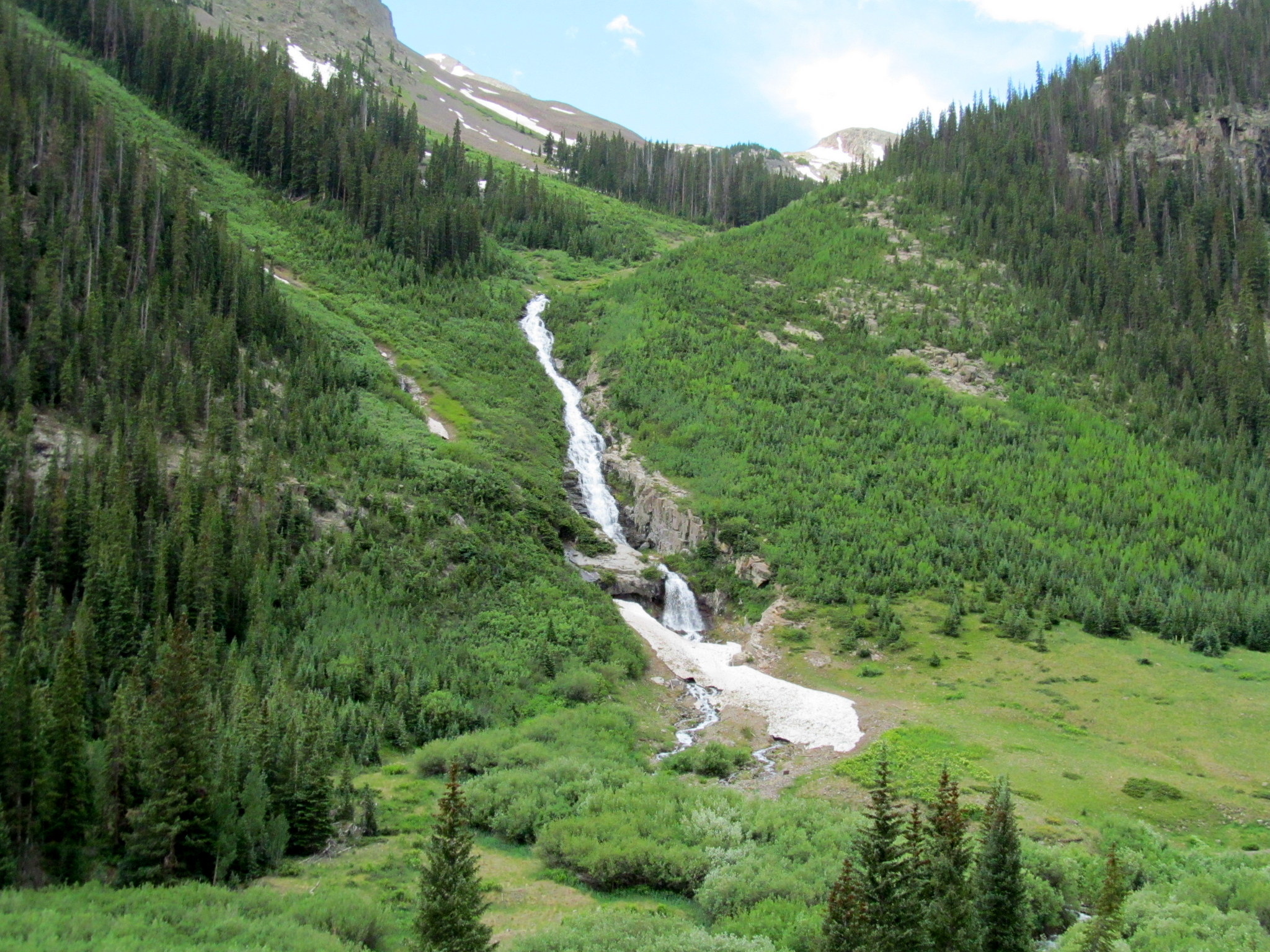 Photo: Waterfall from Horseshoe Basin