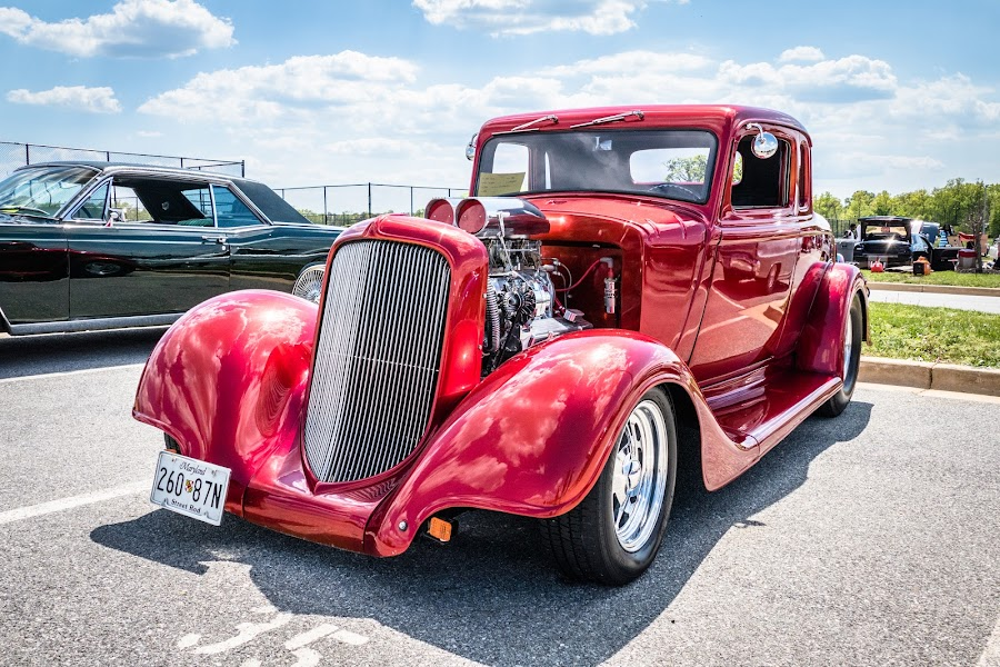 1934 Ford by Brian Butters - Transportation Automobiles ( car, 1934, red, automobile, maryland, car show, hot rod, ford )
