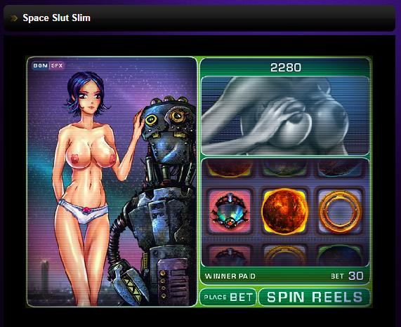 play porn games space slut slim