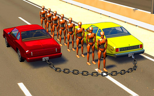 Chained Cars Against Bollard 1.0 screenshots 3