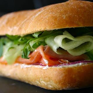 The Ultimate Smoked Salmon Sandwich.