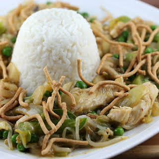 Chinese Chicken and Vegetables with Rice.