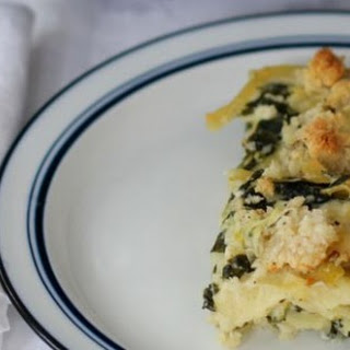 Spinach, Leek and Goat Cheese Kugel.
