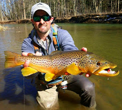 """Photo: Oh yeah!.....we grow some big browns in Ohio eh? """"Brian, thanks for recommending Depth Charge line a few months back. Ohio streamer season is on.- Bryan Clem"""""""