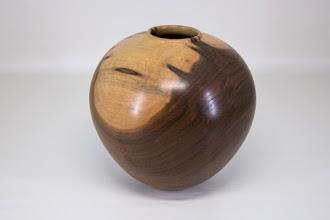 "Photo: Dale Bright 7"" x 7""  hollow form [black walnut]"